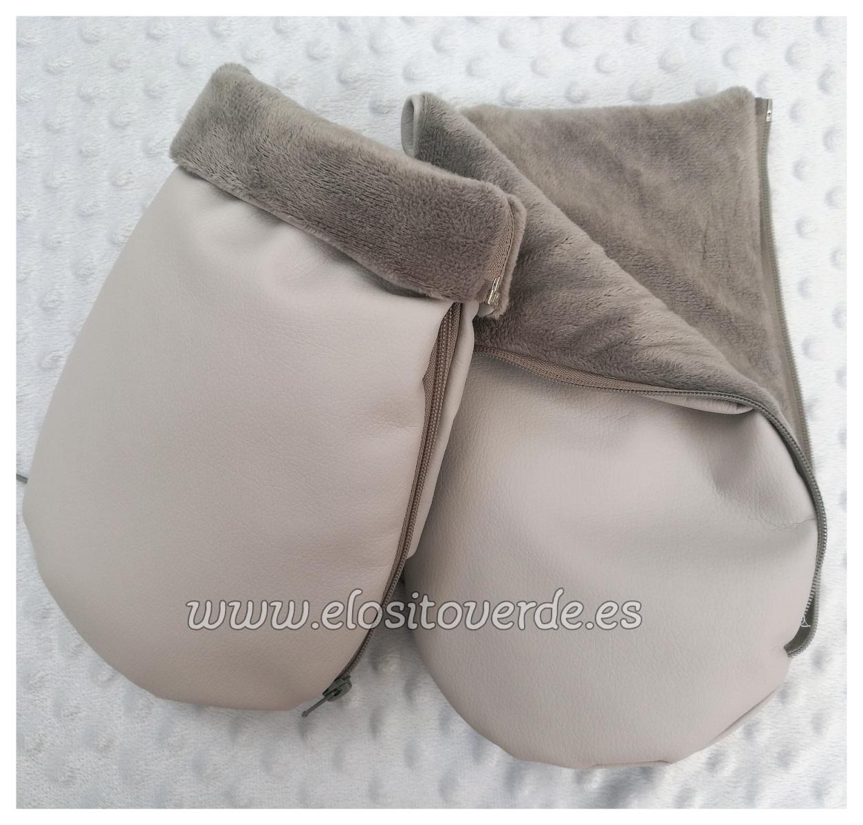 sitio web para descuento comprar el más nuevo características sobresalientes Manoplas poli piel Silla o carrito Bebé Gris 2018