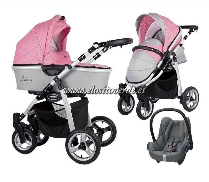 Libero Carro De Bebé 3 Piezas Gris Negro