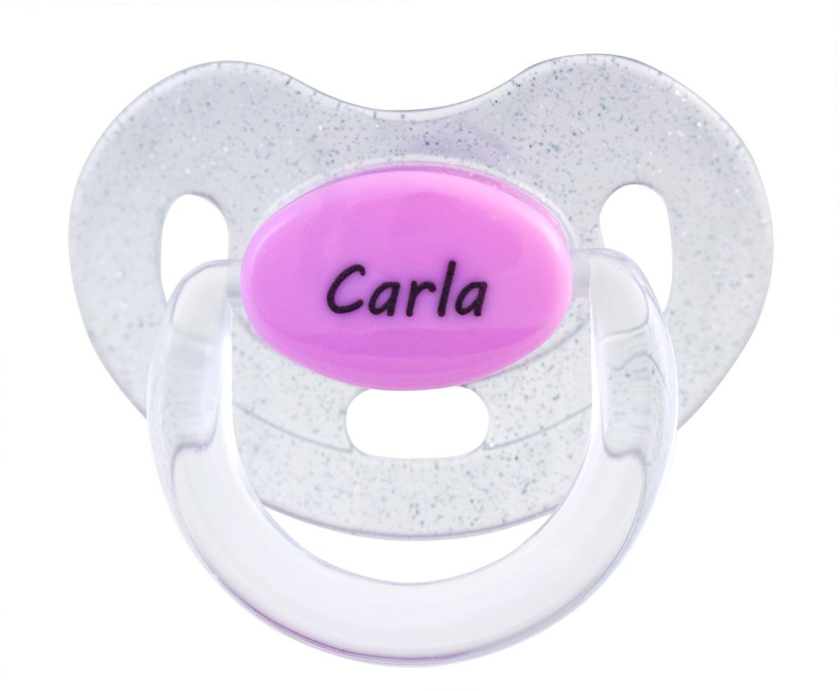 Chupetes Personalizados Con Nombre.Chupete Purpurina Rosa Con Nombre Personalizado