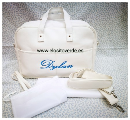 3c2d6775c Bolso Maleta hospital bordado blanco polipiel alta calidad ...