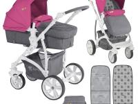 Carro bebé Vista Ligero 2 piezas Convertible Rosa Maquillaje 2018