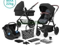 Xmoov carro de bebé 3 en 1 negro