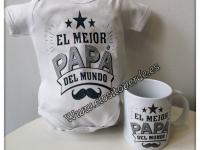 Body mas taza El mejor papá del mundo oferta dia del padre 2019