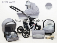 Carro Longer 3 piezas Silver Gris Wave 2018