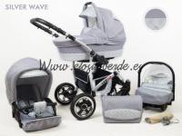Largo 3 piezas Carro bebé Silver wave
