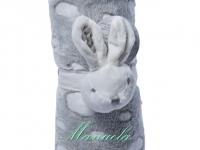 Manta Abracitos Conejo Gris Personalizada
