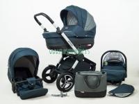 Aspero carro de bebé 3 piezas azul marino