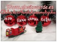Bola de árbol de navidad con nombre