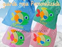 Bolsa Peces guarda ropa guardería personalizada