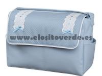 Bolso classic polipiel piqué azul