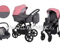 Carro bebé Verino rosa grafito 3 en 1 2019