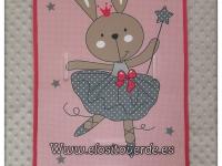 Colchoneta dibujo Conejita bailarina rosa gris silla de paseo 2019