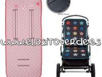 Colchoneta estrellas rosa barquito silla de paseo enfundable