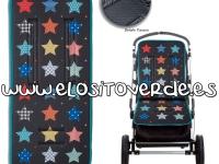 Colchoneta estrellas silla de paseo patchwork enfundable