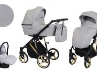 Molto Kunert Premium Carro de bebé 3 en 1 gris melange