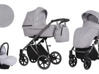 Molto Kunert Carro de bebé 3 en 1 gris melange
