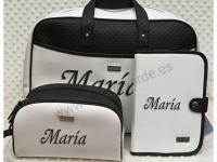 Conjunto Maleta hospital maternal bebé Blanco y Negro