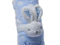 Manta Abracitos Conejo Azul Personalizada