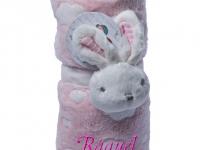 Manta Abracitos Conejo Rosa Personalizada