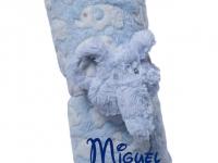Manta Abracitos Elefante Azul Personalizada