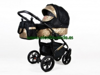 Miracle carro de bebé 3 en 1 BLACK DELUXE