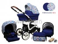 Optimal carro de bebé 3 en 1 azulejo azulejo portugués