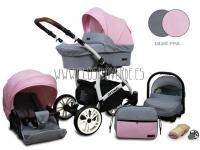 Optimal carro de bebé 3 en 1 rosa palo