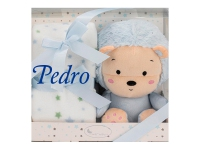 Peluche Manta Erizo Azul Personalizado Nombre
