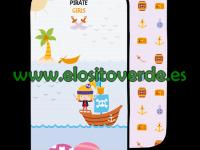 Piratas niña colchoneta silla paseo verano reversible 2019