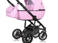 Prado cochecito de bebe 2 o 3 piezas Ecopiel Rosa Chicle