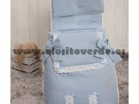 Saco 3 usos classic piqué azul