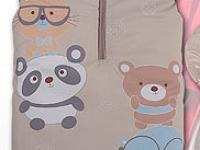 Saco universal silla o carro de bebé beige Oso panda hello REBAJAS