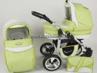 Carrito Silver 3 piezas Eco Piel Verde