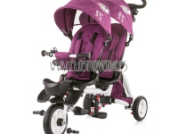 Triciclo gemelar reclinable giratorio burgundy twin Fun 2