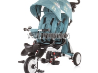 Triciclo gemelar reclinable giratorio verde twin Fun 2