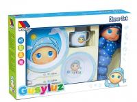 Gusiluz pack con vajilla de 5 piezas azul