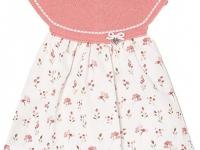 Vestido punto corpiño rosa mayoral