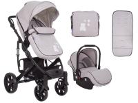 Beloved 3 en 1 gris claro Carrito de bebé