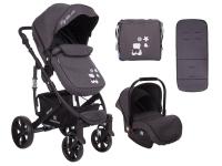 Beloved 3 en 1 gris oscuro Carrito de bebé