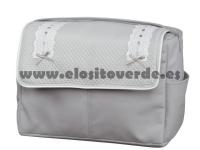 Bolso classic polipiel piqué gris