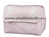 Bolso classic polipiel piqué rosa