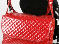Bolso con solapa Rojo
