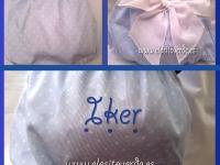 Braguita puntitos azul Lazo Bebé personalizada