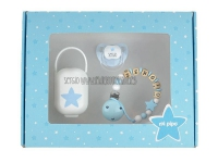 Pack cajita regalo azul my baby personalizada