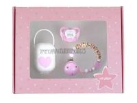 Pack cajita regalo rosa my baby personalizada
