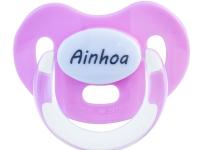 Chupete rosa con nombre personalizado