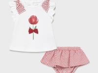 Conjunto Falda recién nacida niña Tulipán Mayoral