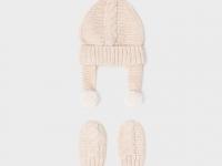 Conjunto gorro con manoplas recién nacido niño mayoral beige