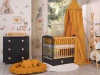 Habitación Bebé Completa Cuna +  Cómoda Natural Wood e Leonardo Color a elegir.