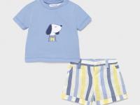 Conjunto pantalón corto y camiseta recién nacido niño